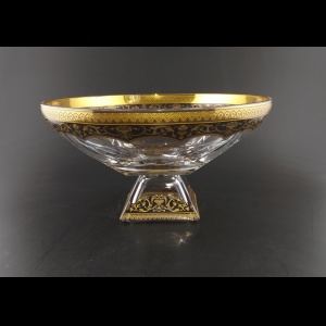 Fusion MOD FEGB Bowl 305 d30,5cm 1pc in Flora´s Empire Golden Black Decor (26-995)