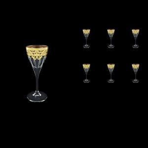 Fusion C5 F0026 Liqueur Glasses 70ml 6pcs in Natalia Golden Black Decor (F0026-0115)
