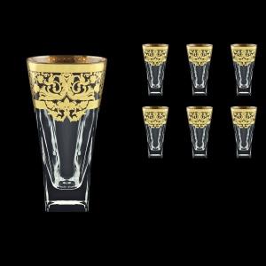 Fusion B0 F0026 Water Glasses 384ml 6pcs in Natalia Golden Black Decor (F0026-0100)