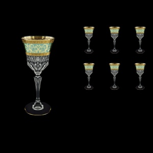 Adagio C3 AALT Wine Glasses 220ml 6pcs in Allegro Golden Turquoise Light D. (6T-643/L)