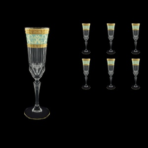 Adagio CFL AALT Champagne Flutes 180ml 6pcs in Allegro Golden Turquoise Light (6T-645/L)