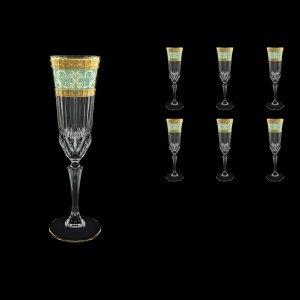 Adagio CFL AALT Champagne Flutes 180ml 6pcs in Allegro Golden Turquoise Light (6T-645/L)