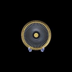 Sunbeam CP SMGB Cake Plate d18cm 1pc in Lilit Golden Black Decor (31-0381)