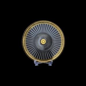 Sunbeam CP SMGB Cake Plate d21cm 1pc in Lilit Golden Black Decor (31-0382)