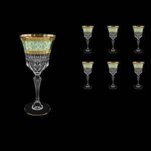 Adagio C2 AALT Wine Glasses 280ml 6pcs in Allegro Golden Turquoise Light D. (6T-644/L)