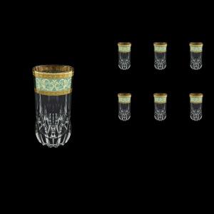 Adagio B0 AALT Water Glasses 400 6pcs in Allegro Golden Turquoise Light D. (6T-647/L)