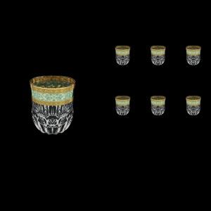Adagio B2 AALT Whisky Glasses 350 6pcs in Allegro Golden Turquoise Light D. (6T-646/L)
