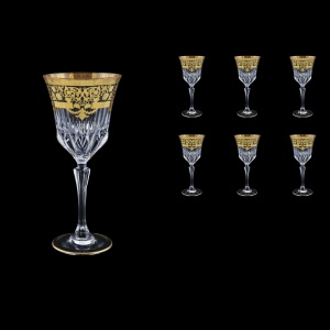Adagio C2 F0026 Wine Glasses 280ml 6pcs in Natalia Golden Black Decor (F0026-0412)