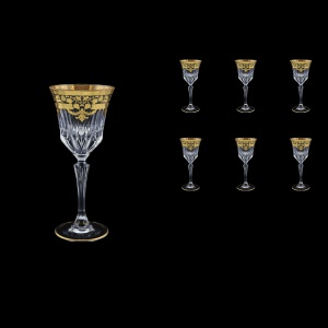 Adagio C4 F0026 Wine Glasses 150ml 6pcs in Natalia Golden Black Decor (F0026-0414)
