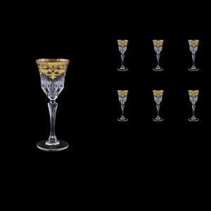 Adagio C5 F0026 Liqueur Glasses 80ml 6pcs in Natalia Golden Black Decor (F0026-0415)