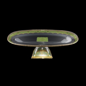 Fenice OTD FELG Oval Tray w/F 50x16cm 1pc in Flora´s Empire Golden Green Light (24-979/L)