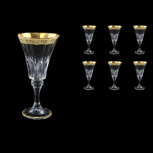 Wellington C2 WMGB Wine Glasses 280ml 6pcs in Lilit Golden Black Decor (31-2012)