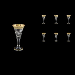 Wellington C5 WMGB Liquere Glasses 49ml 6pcs in Lilit Golden Black Decor (31-2015)