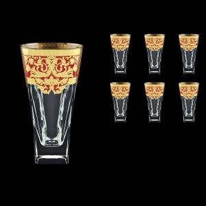 Fusion B0 F0022 Water Glasses 384ml 6pcs in Natalia Golden Red Decor (F0022-0100)