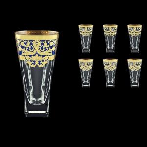 Fusion B0 F0023 Water Glasses 384ml 6pcs in Natalia Golden Blue Decor (F0023-0100)