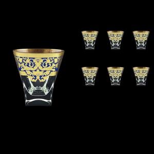 Fusion B2 F0023 Whisky Glasses 270ml 6pcs in Natalia Golden Blue Decor (F0023-0102)