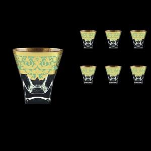 Fusion B2 F002T Whisky Glasses 270ml 6pcs in Natalia Golden Turquoise Decor (F002T-0102)
