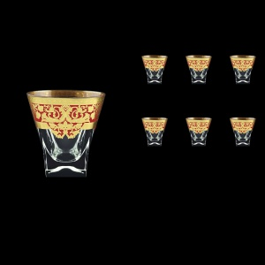 Fusion B3 F0022 Whisky Glasses 200ml 6pcs in Natalia Golden Red Decor (F0022-0103)
