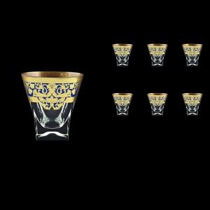 Fusion B3 F0023 Whisky Glasses 200ml 6pcs in Natalia Golden Blue Decor (F0023-0103)