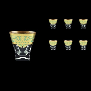 Fusion B3 F002T Whisky Glasses 200ml 6pcs in Natalia Golden Turquoise Decor (F002T-0103)