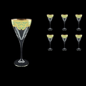 Fusion C2 F002T Wine Glasses 250ml 6pcs in Natalia Golden Turquoise Decor (F002T-0112)
