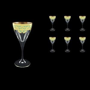 Fusion C3 F002T Wine Glasses 210ml 6pcs in Natalia Golden Turquoise Decor (F002T-0113)