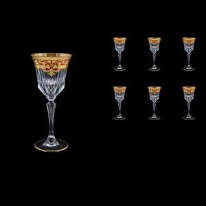 Adagio C4 F0022 Wine Glasses 150ml 6pcs in Natalia Golden Red Decor (F0022-0414)