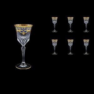 Adagio C4 F0023 Wine Glasses 150ml 6pcs in Natalia Golden Blue Decor (F0023-0414)