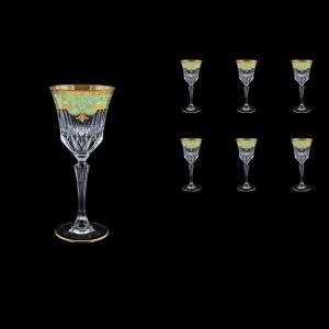 Adagio C4 F002T Wine Glasses 150ml 6pcs in Natalia Golden Turquoise Decor (F002T-0414)