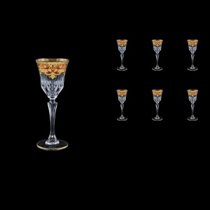 Adagio C5 F0022 Liqueur Glasses 80ml 6pcs in Natalia Golden Red Decor (F0022-0415)