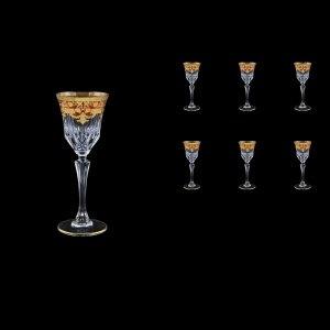 Adagio C5 F0022 Liqueur Glasses 80ml 6pcs in Natalia Golden Red Decor (F0022-0415)