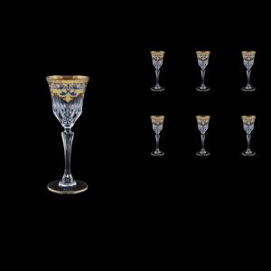 Adagio C5 F0023 Liqueur Glasses 80ml 6pcs in Natalia Golden Blue Decor (F0023-0415)