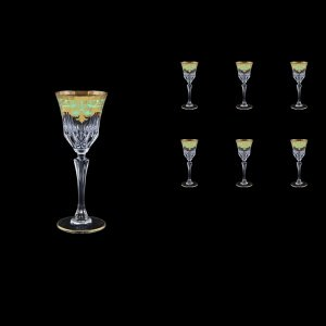 Adagio C5 F002T Liqueur Glasses 80ml 6pcs in Natalia Golden Turquoise Decor (F002T-0415)