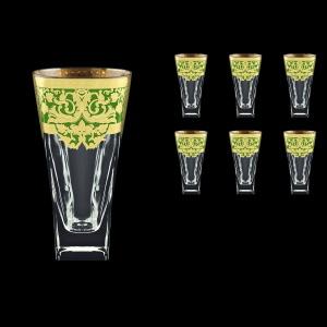 Fusion B0 F0024 Water Glasses 384ml 6pcs in Natalia Golden Green Decor (F0024-0100)