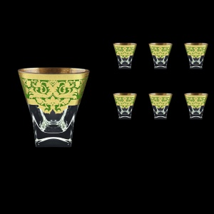 Fusion B2 F0024 Whisky Glasses 270ml 6pcs in Natalia Golden Green Decor (F0024-0102)