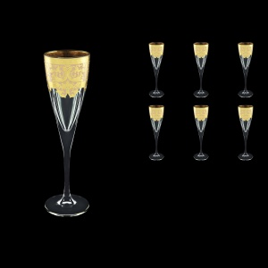 Fusion CFL F0025 Champagne Flutes 170ml 6pcs in Natalia Golden Ivory Decor (F0025-0110)