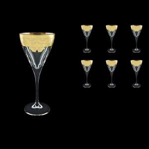 Fusion C2 F0025 Wine Glasses 250ml 6pcs in Natalia Golden Ivory Decor (F0025-0112)