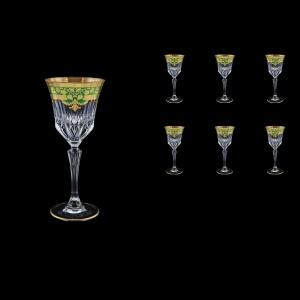 Adagio C4 F0024 Wine Glasses 150ml 6pcs in Natalia Golden Green Decor (F0024-0414)