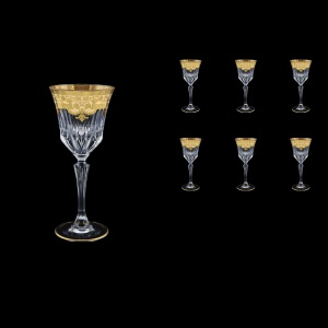 Adagio C4 F0025 Wine Glasses 150ml 6pcs in Natalia Golden Ivory Decor (F0025-0414)