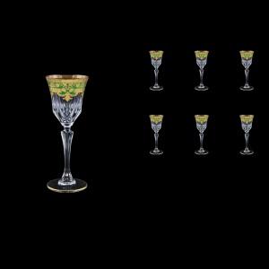 Adagio C5 F0024 Liqueur Glasses 80ml 6pcs in Natalia Golden Green Decor (F0024-0415)