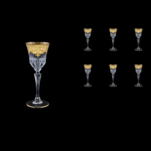 Adagio C5 F0025 Liqueur Glasses 80ml 6pcs in Natalia Golden Ivory Decor (F0025-0415)