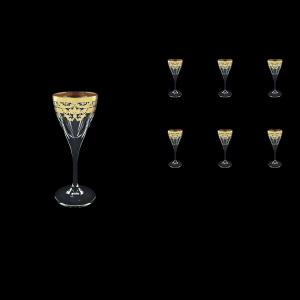 Fusion C5 F0023 Liqueur Glasses 70ml 6pcs in Natalia Golden Blue Decor (F0023-0115)