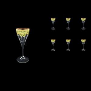 Fusion C5 F0024 Liqueur Glasses 70ml 6pcs in Natalia Golden Green Decor (F0024-0115)