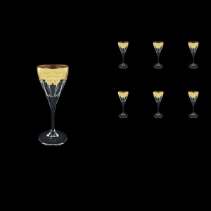 Fusion C5 F0025 Liqueur Glasses 70ml 6pcs in Natalia Golden Ivory Decor (F0025-0115)