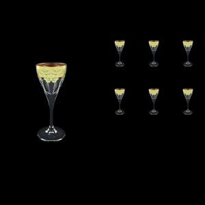 Fusion C5 F002T Liqueur Glasses 70ml 6pcs in Natalia Golden Turquoise Decor (F002T-0115)