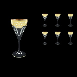 Fusion C3 F0021 Wine Glasses 210ml 6pcs in Natalia Golden White Decor (F0021-0113)
