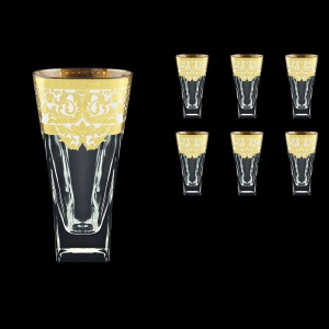 Fusion B0 F0021 Water Glasses 384ml 6pcs in Natalia Golden White Decor (F0021-0100)