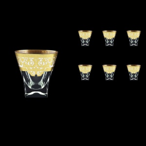 Fusion B3 F0021 Whisky Glasses 200ml 6pcs in Natalia Golden White Decor (F0021-0103)