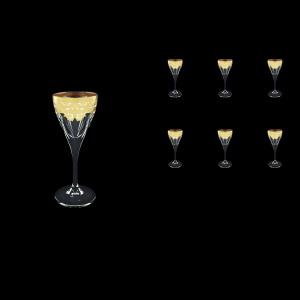 Fusion C5 F0021 Liqueur Glasses 70ml 6pcs in Natalia Golden White Decor (F0021-0115)