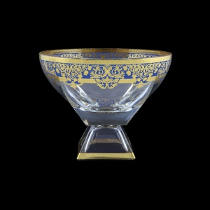 Fusion MVD F0023 Large Bowl 19,5x24,5cm 1pc in Natalia Golden Blue Decor (F0023-016H)